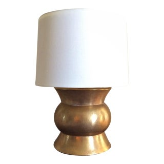 "Robert Kuo 24 Karat Gold Plated ""Zun"" Table Lamp For Sale"