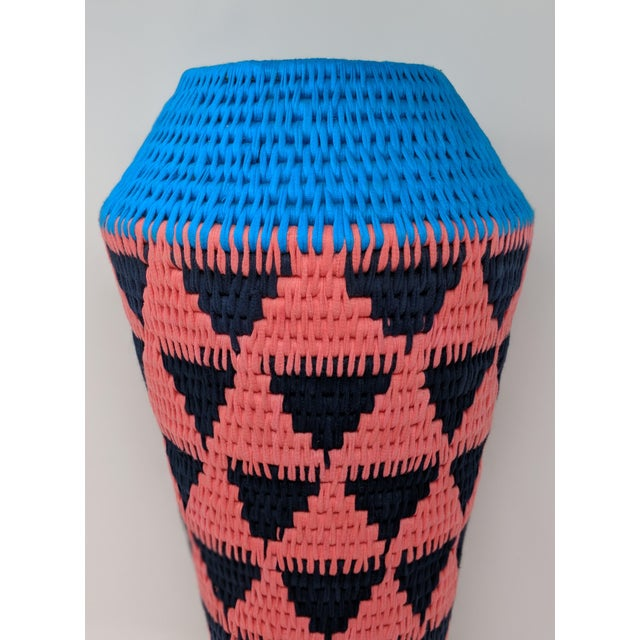 African Woven Vase - Made in Swaziland For Sale In Providence - Image 6 of 13
