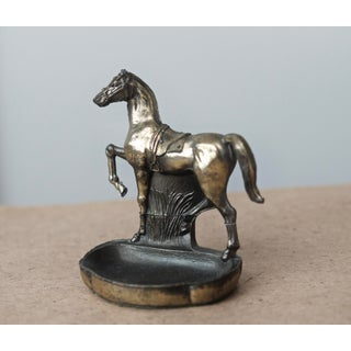 1920s K&O Metal Prancing Horse Figurine Tray Preview