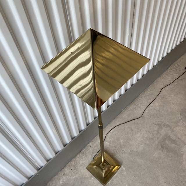 1970s Laurel Lamp Co Brass Plated Telescoping Floor Lamp For Sale - Image 9 of 13