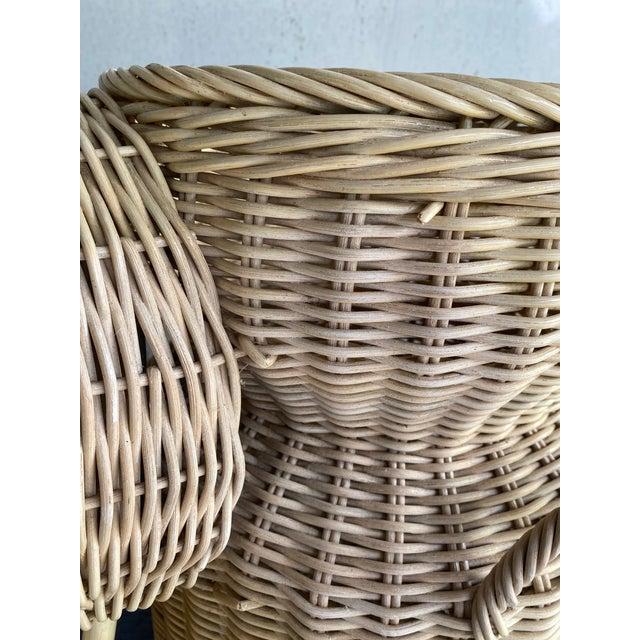 Vintage Coastal Wicker Elephant Basket For Sale - Image 10 of 13