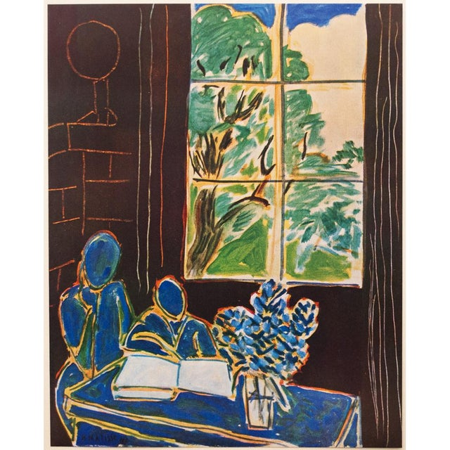 """A lovely original period tipped-in lithograph after """"Interieur"""" painting by French artist Henri Matisse (1869-1954)...."""