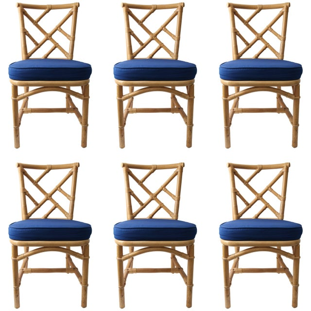 Chippendale Bamboo Side Chairs - Set of 6 For Sale - Image 13 of 13
