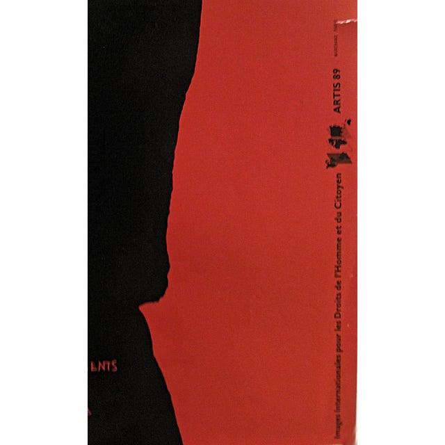 1980s 1989 Original Poster for Artis 89's Images Internationales Pour Les Droits De l'Homme Et Du Citoyen - Article 5 For Sale - Image 5 of 6