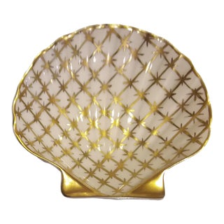 Limoges French Shell-Shaped 24k Soap/Trinket Dish For Sale