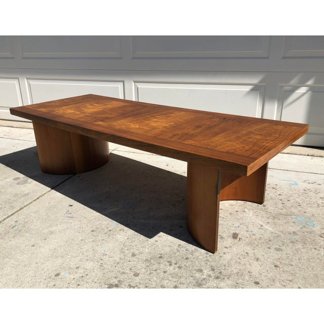 """Very rare Kroehler coffee table by Gilbert Rohde with iconic, curved """"U"""" double-base (similar to Rohde's Paldao design for..."""