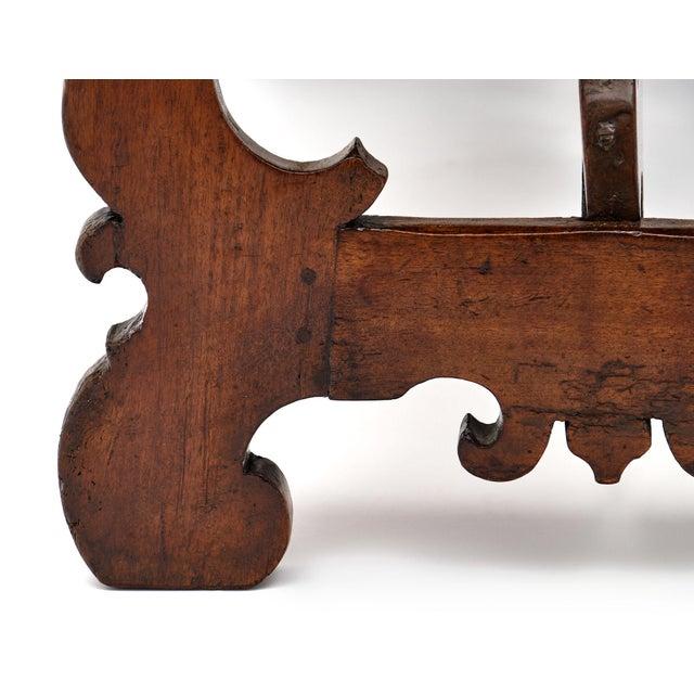 "Antique Spanish Renaissance ""Lyra"" Trestle Table For Sale - Image 9 of 10"
