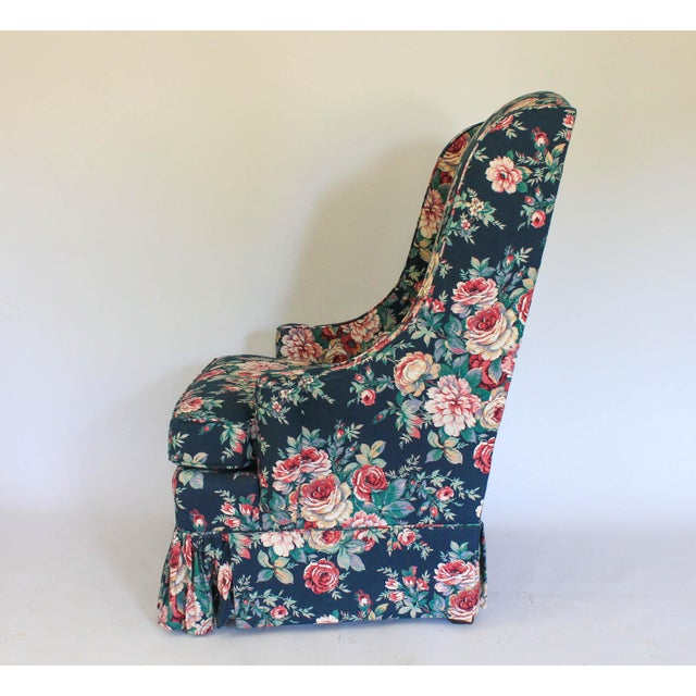 High Back Wing Chair For Sale - Image 9 of 12