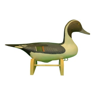 1987 Vintage Capt. Harry Jobes Pintail Duck Decoy For Sale