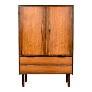 Mid Century Danish Modern Rosewood Bar Cabinet For Sale