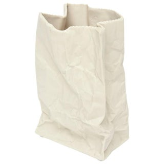 Crushed and Folded Bag Ceramic Sculpture or Vase