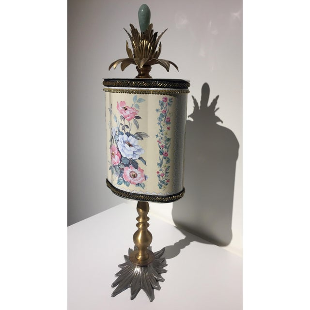 This vintage tea tin turned sculpture will truly add something special to your home decor. The details are whimsical yet...