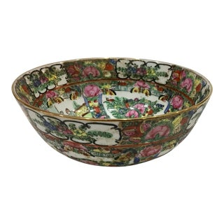 1960s Chinese Style Ornate Ceramic Bowl For Sale