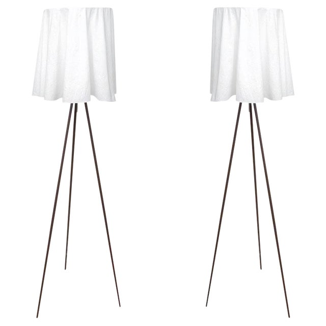 Rosy Angelis Floor Lamps by Philippe Starck for Flos - a Pair For Sale
