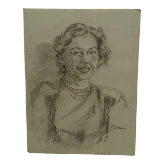 "Original Drawing Sketch ""Sophisticated Lady"" by Tom Sturges Jr., 1950"