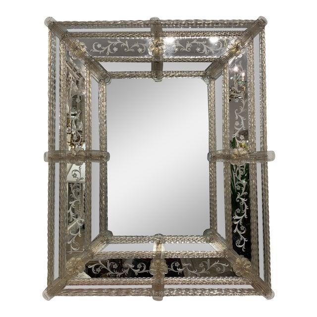 Vintage Murano Mirror For Sale