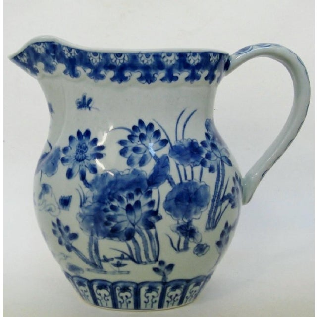 Late 20th Century Chinese Porcelain Pitcher For Sale - Image 5 of 8