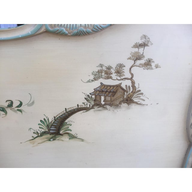 Asian Style Hand Painted King Headboard For Sale In Philadelphia - Image 6 of 7