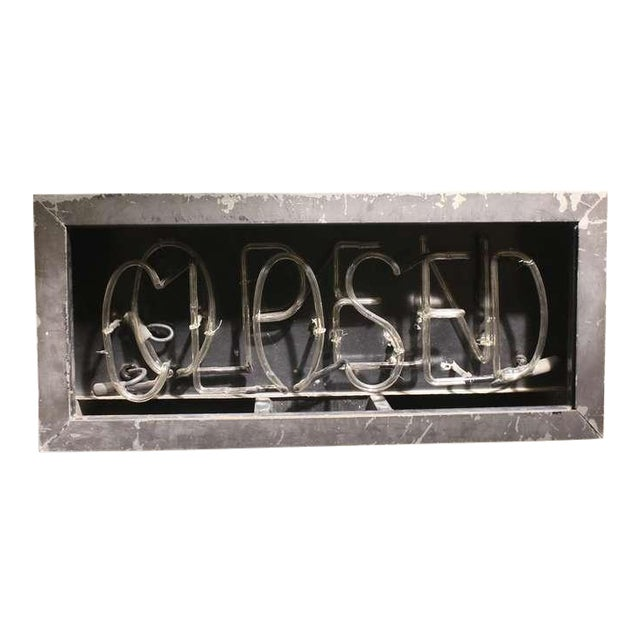 1930's Vintage Neon Open/Closed Sign For Sale