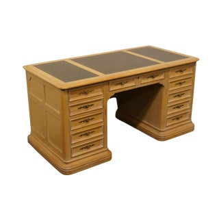 Late 20th Century Vintage Hekman Blonde Executive Desk For Sale