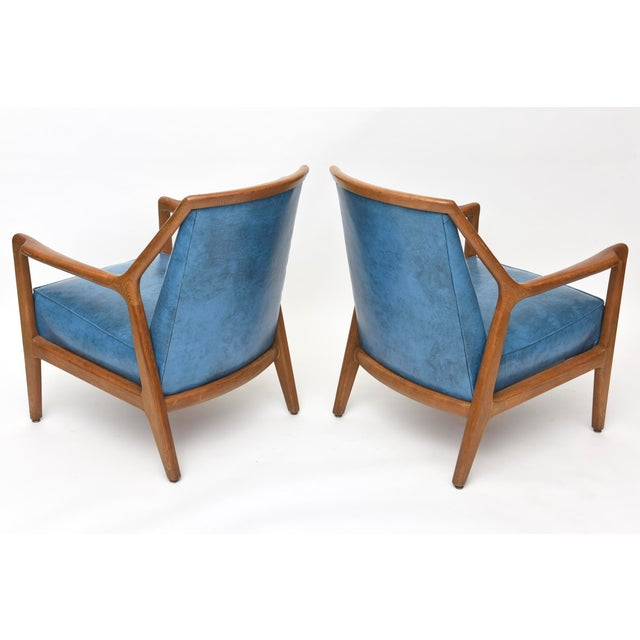 Carlo de Carli Pair of Italian Modern Walnut Armchairs, Carlo de Carli For Sale - Image 4 of 11