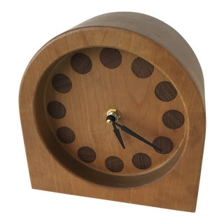 Modern Wood Crafted Desk/Mantle Clock, 1990s For Sale