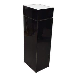 Modern Black Sculptural Pedestal Table Base, Light Stand For Sale