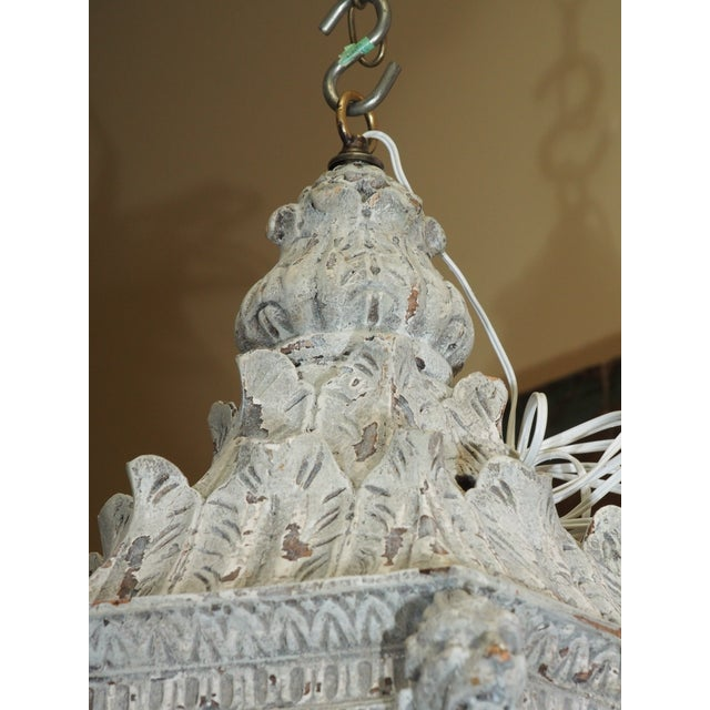 Renaissance Italian Carved Wood Lantern For Sale - Image 3 of 9