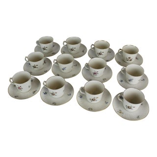 Royal Copenhagen Cups & Saucers - Set of 12 For Sale
