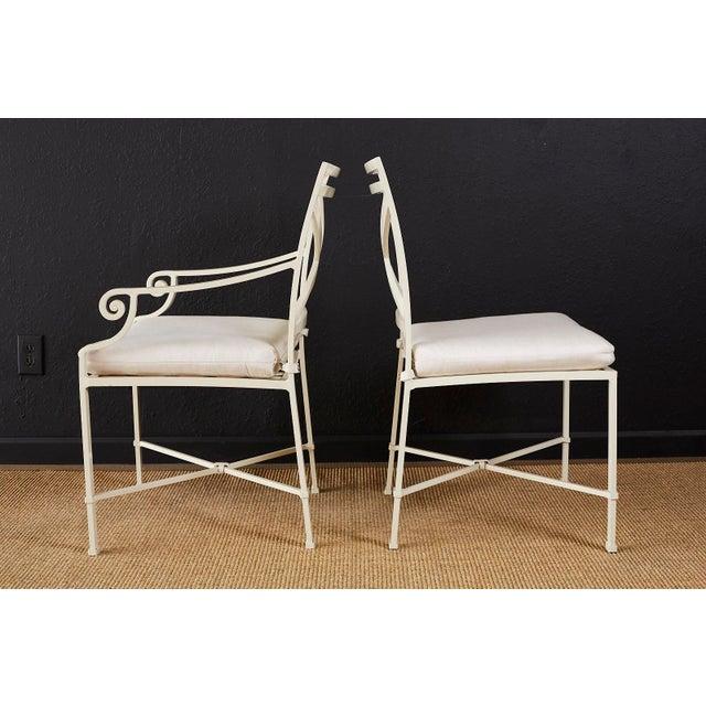 Set of Six Brown Jordan Aluminium Patio Garden Chairs For Sale - Image 9 of 13