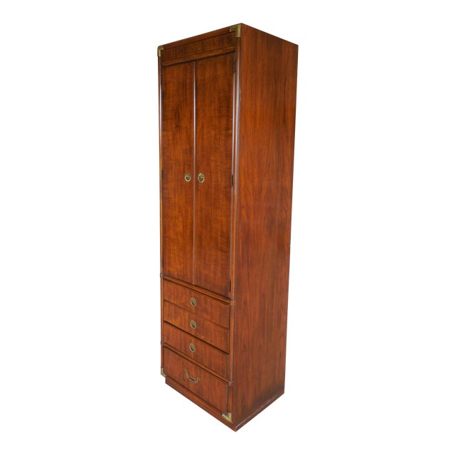 Drexel Heritage Accolade Campaign Style Armoire For Sale
