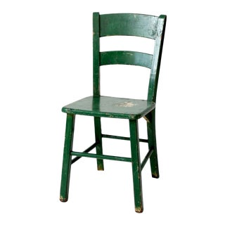 Vintage Painted Wood Chair For Sale