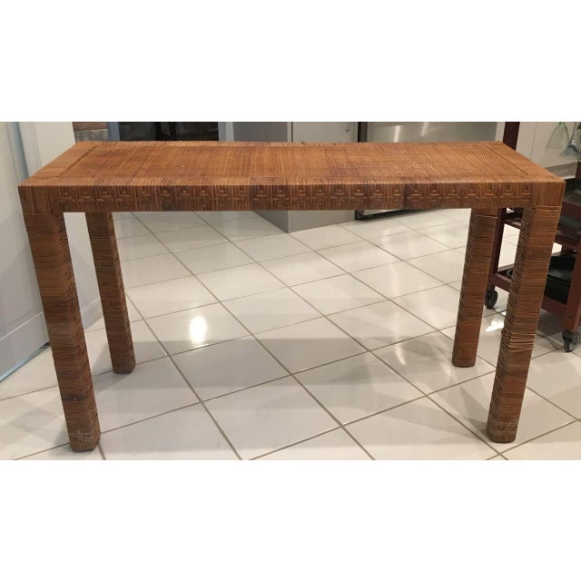 Billy Baldwin Late 20th Century Billy Baldwin Style Console Table For Sale - Image 4 of 9
