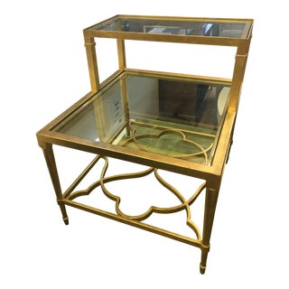 Traditional Hammary Furniture Co. Step Side Table For Sale