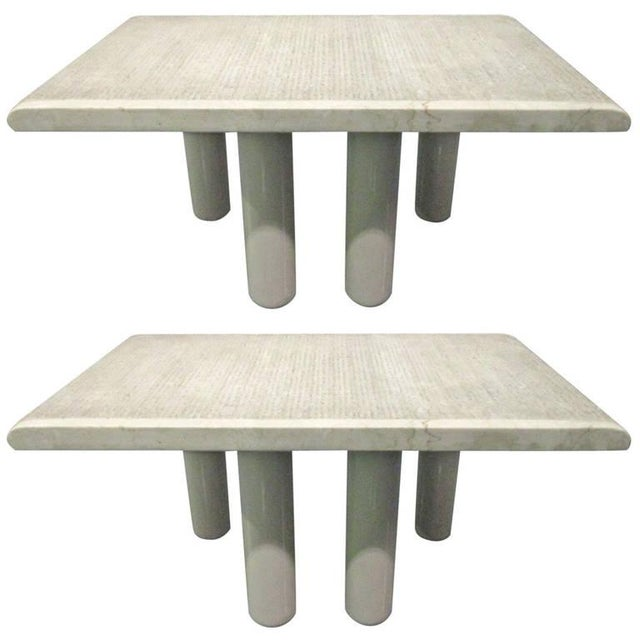 Pair Italian Marble End Tables For Sale In New York - Image 6 of 6
