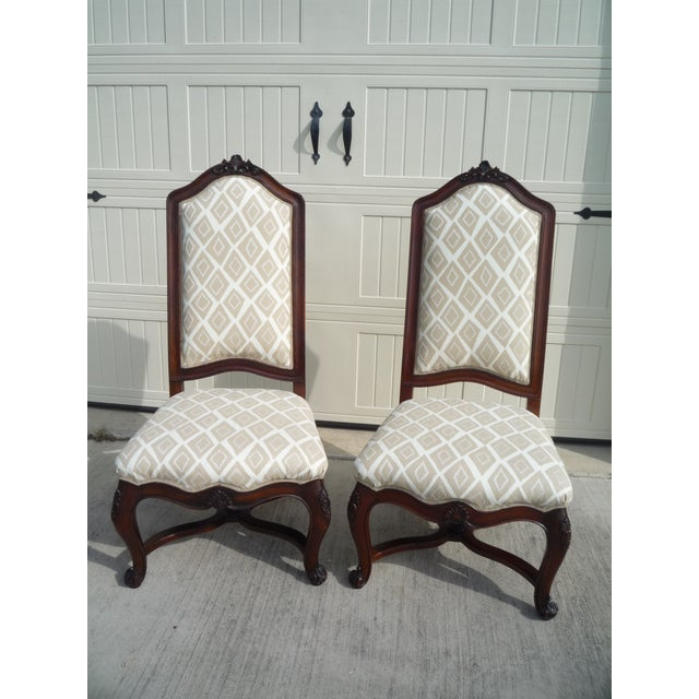 Henredon Vintage Host/Hostess Dining Chairs- A Pair For Sale - Image 9 of 9
