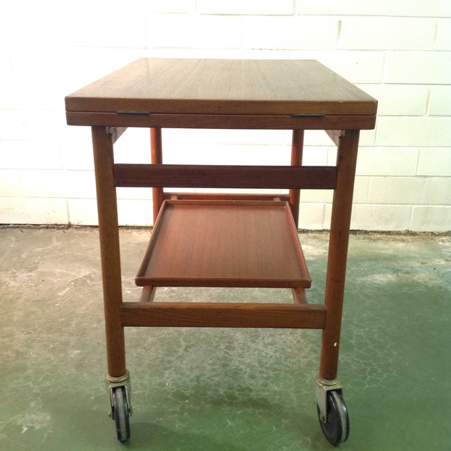Brown Rosewood Serving Cart by Jason Mobler, Denmark For Sale - Image 8 of 11