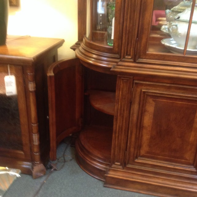 Arched Sideboard With Lighted Hutch - Image 8 of 9