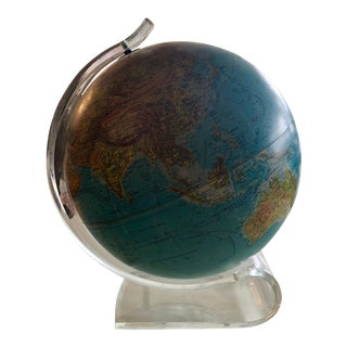 Vintage Replogle World Horizon Globe on Acrylic Base For Sale
