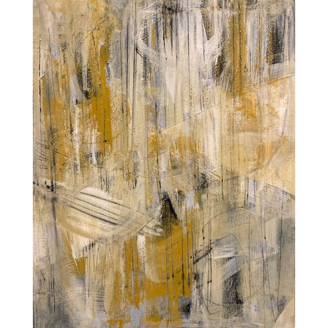 Original Abstract Mid-Century Inspired Painting, Framed For Sale - Image 4 of 5