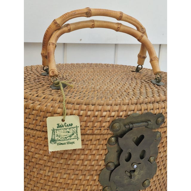 1950s Woven Basket Purse - Image 4 of 8