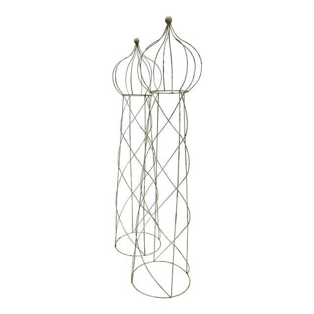 Trellis Topiary 8 ' Tall - Set of 2 For Sale