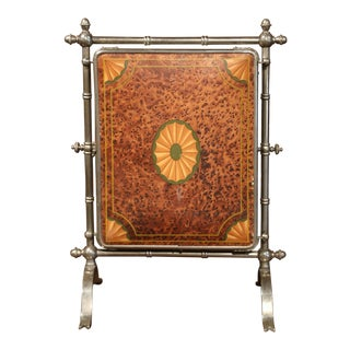 19th Century French Freestanding Folding Triptych Mirror with Bevelled Glass For Sale