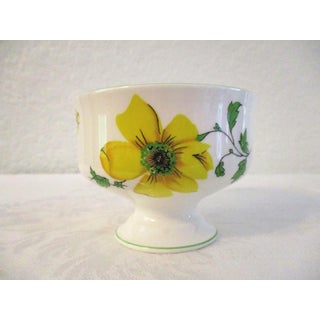 1970s English Yellow Floral Compotes, Set of 6 Preview