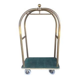 Vintage Forbes Luggage Cart Birdcage Brass For Sale