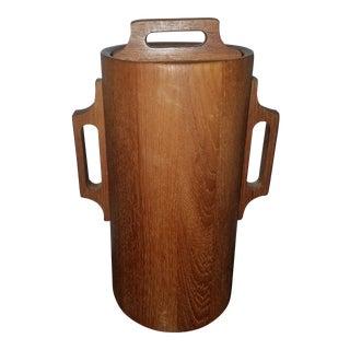 1960s Dansk Ihq Jens Quistgaard Mid-Century Danish Modern Teak Ice Bucket For Sale
