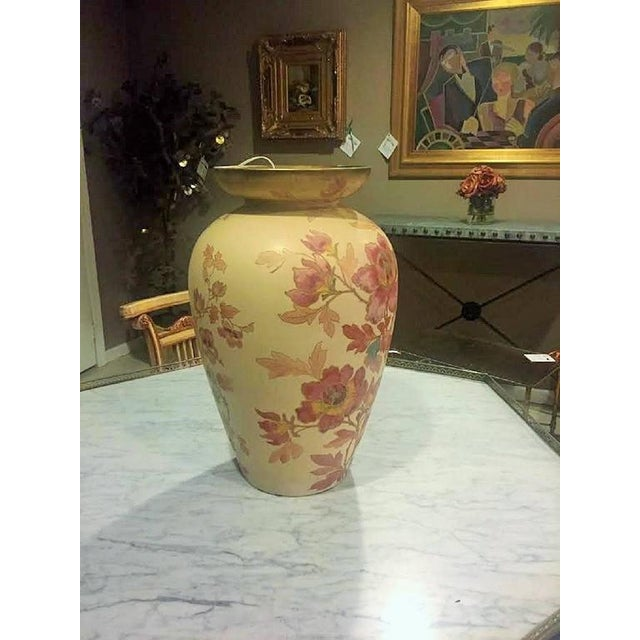 Pointons Floral Pottery Vase - Image 3 of 9