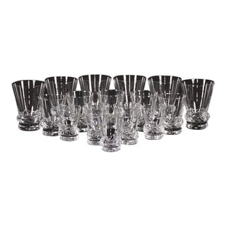 Daum Sorcy French Crystal Glasses - Set of 18