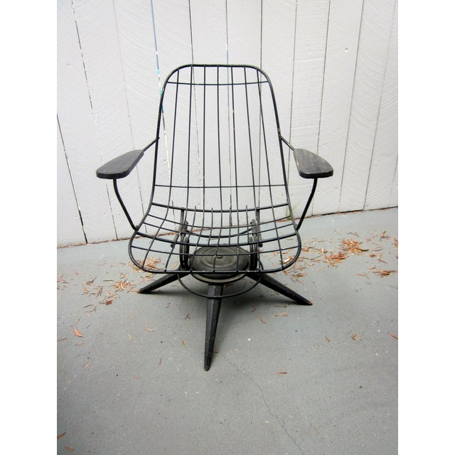 MCM Homecrest Eames Era Bertoia Style Wire Chair - Image 3 of 5
