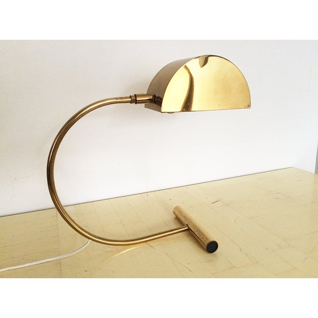 Koch and Lowy Brass Demilune Table Lamp - Image 2 of 11
